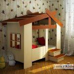 домик кровать для детской комнаты