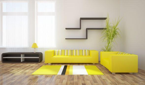 лимонная обивка дивана