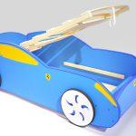 голубая кроватка машинка