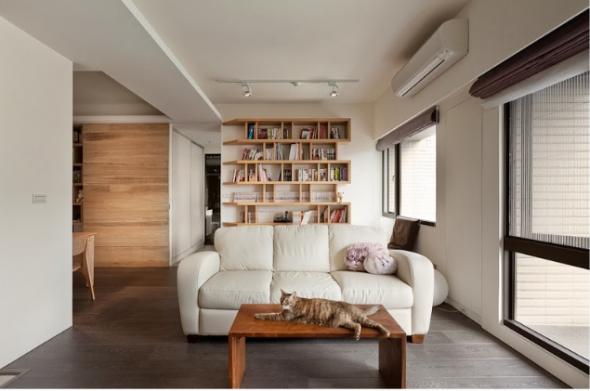 минимализм в интерьере дизайнерская мебель из дерева