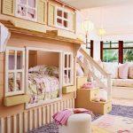 кровать для девочки в стиле домика
