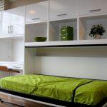 стильный кабинет с откидной кроватью-комодом