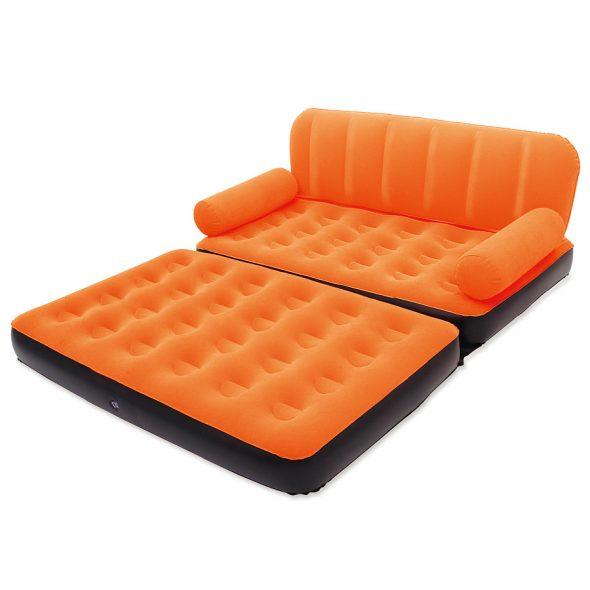 Оранжевый надувной матрас