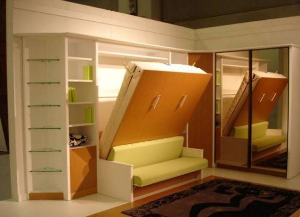 подъемная кровать с диваном