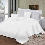 Покрывало для двухспальной кровати белое