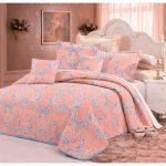 Покрывало для двухспальной кровати - персиковое