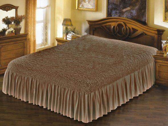 покрывало для двухспальной кровати стильное и красивое