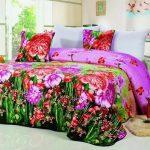 Покрывало двухспальное - цветочная радуга