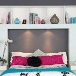 Полка над кроватью декоративная