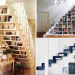 полки в ступенях и под лестницей