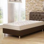 кровать с кожаной обивкой подъемная