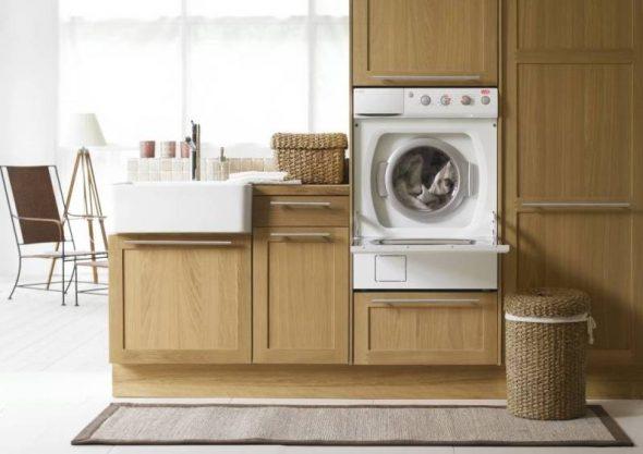 практичный вариант установки стиральной машины