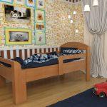 Раздвижная кровать для детей от 2 лет