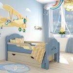 Раздвижная кровать для детской спальни