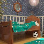 Раздвижная кровать из массива