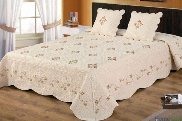 Разновидности двухспальных покрывал