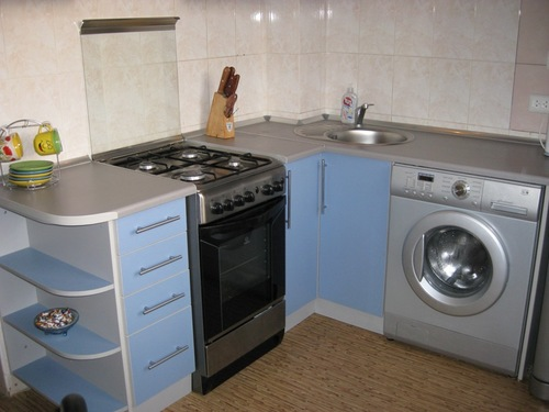 скрыть стиральную машину