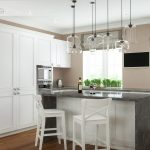 барные стулья в классическом дизайне кухни