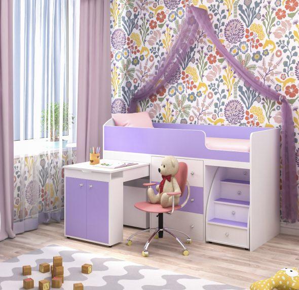 Стильная детская кровать