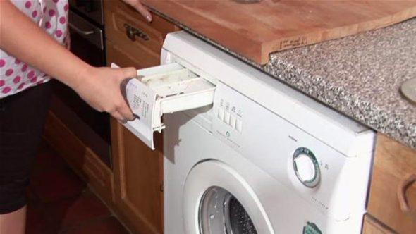 стиральная машина автомат на кухне