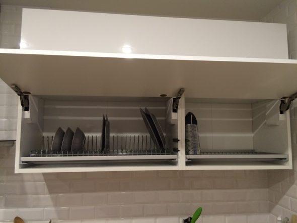 сушилка во фронтальном шкафу