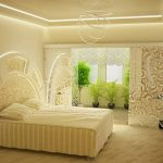 ванильный цвет в дизайне спальни
