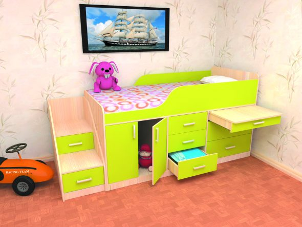 Удобная детская кровать