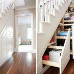 ящики для вещей под лестницей