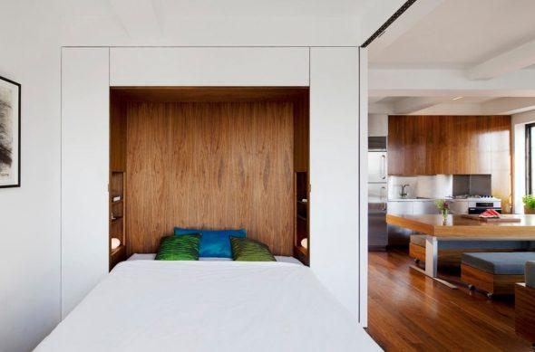 Встроенная кровать в гостиной