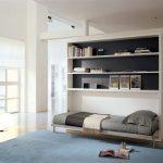 гостиная со складной кроватью