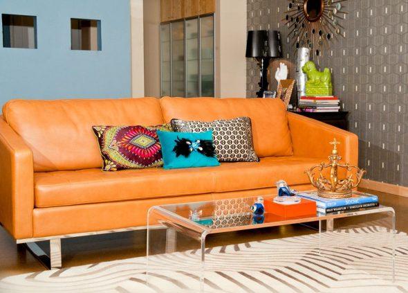 янтарная обивка дивана