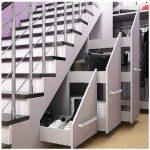 ящики и шкаф под лестницей