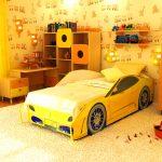 кровать машинка для детской комнаты