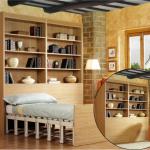 Автоматический трансформер шкаф-кровать