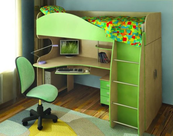 Детская кровать-стол Глория