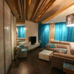 Дизайн интерьера узкой гостиной