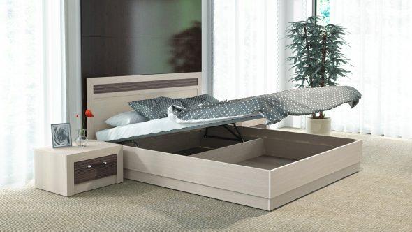 Двуспальная кровать с подъемным механизмом Токио