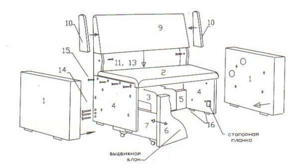 Инструкция по разборке диванов