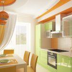 Яркие насыщенные цвета кухонной мебели