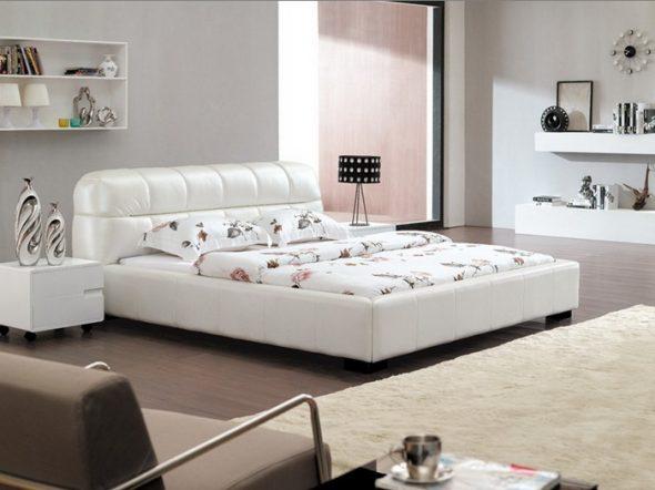 Кожаные кровати-роскошь для каждого