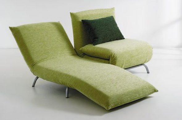 Кресло-кровать зеленого цвета