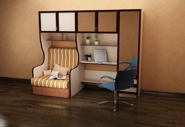 Кровать с письменным столом для подростка