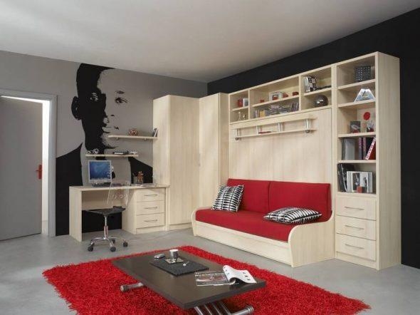 Кровать трансформер в современном стиле