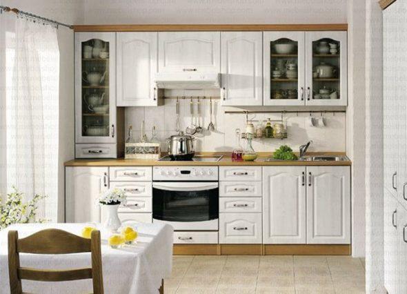 Кухонные гарнитуры белого цвета