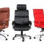 Офисные кресла и стулья из экокожи