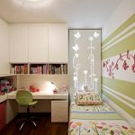 Планировка узкой детской комнаты