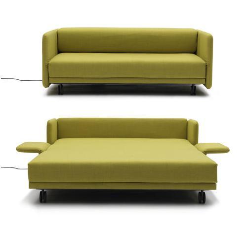 Раскладной диван фисташкового цвета