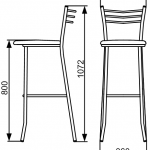 Размер стульев