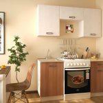Самый экономичный вариант кухонного гарнитура для маленькой кухни