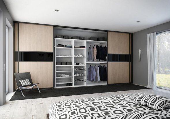 Шкаф-купе в большую спальню